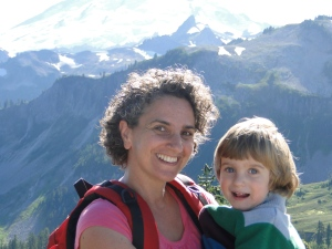 Me and my son Norbu at Mount Baker, Wa.