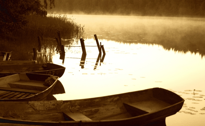 Lulu photo #21- boats on pond with mist